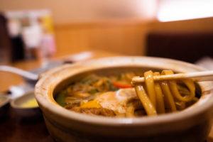 味噌煮込みきしめんの麺